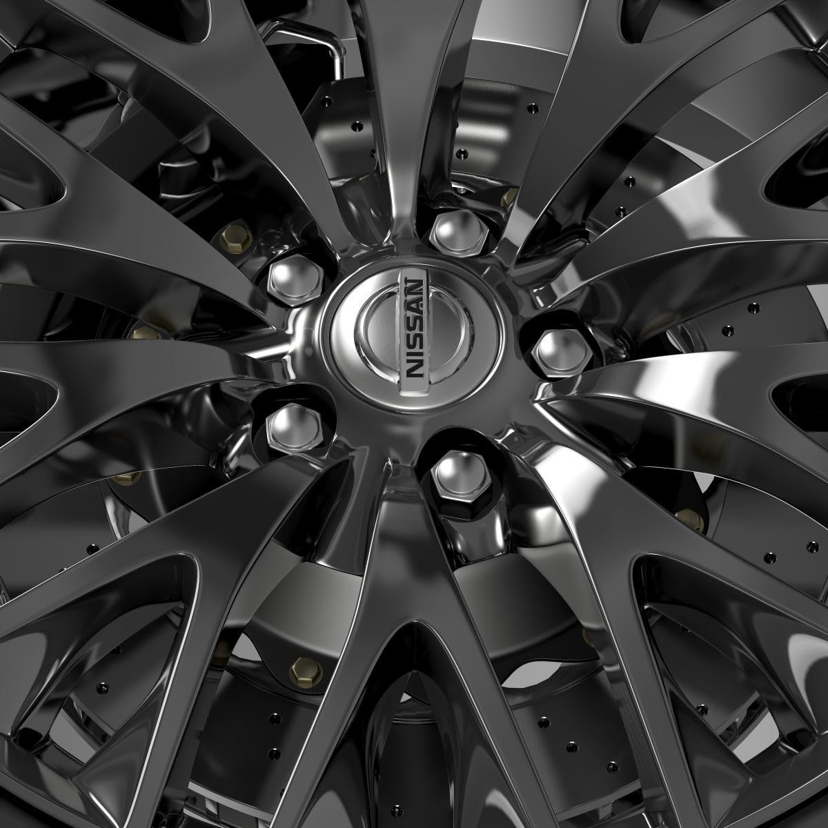 nissan cima hybrid wheel 3d model 3ds max fbx c4d lwo ma mb hrc xsi obj 210818