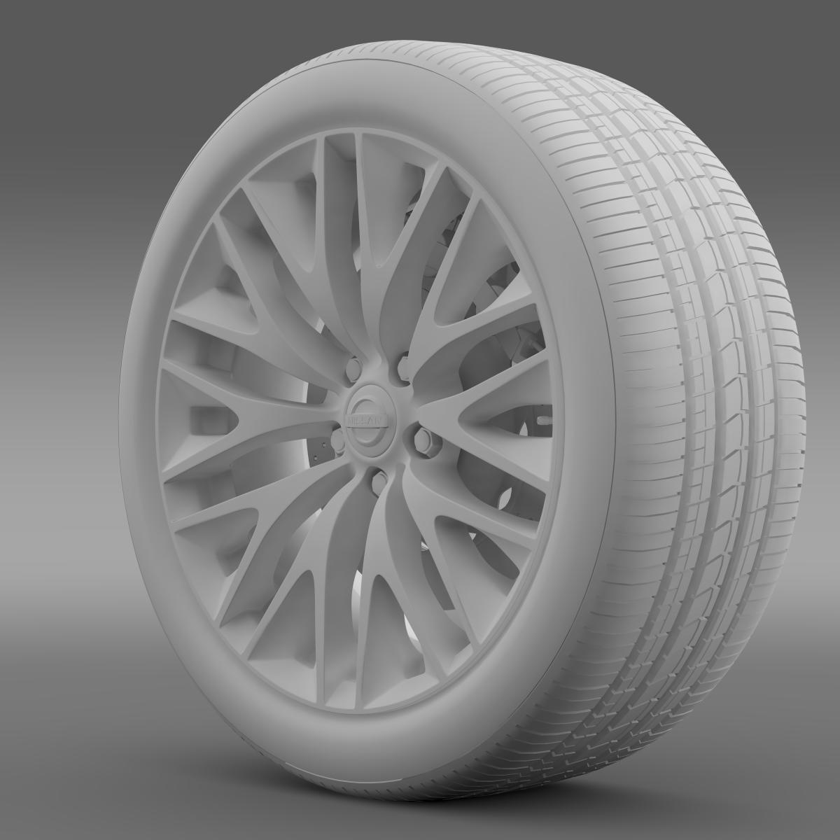 nissan cima hybrid wheel 3d model 3ds max fbx c4d lwo ma mb hrc xsi obj 210819