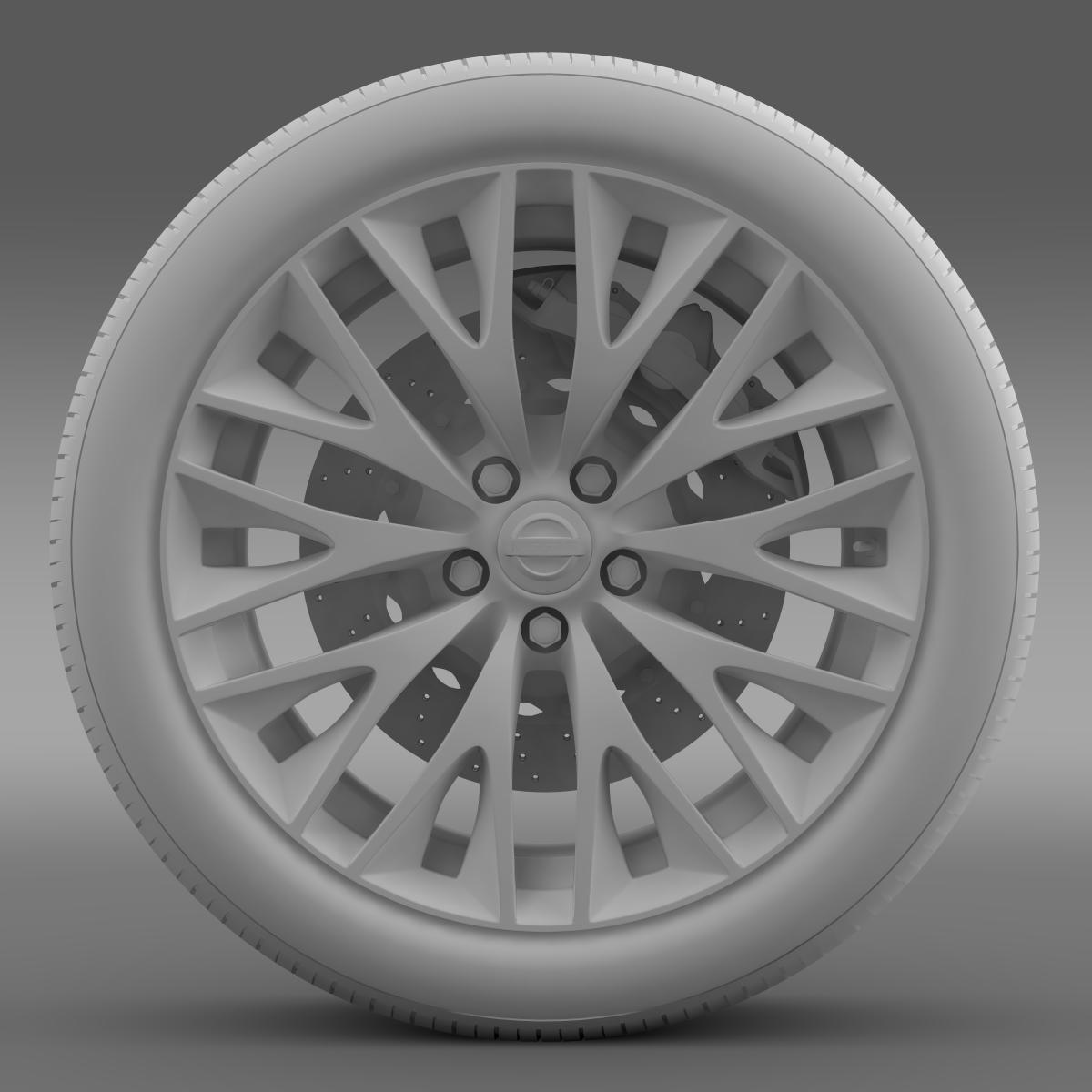 nissan cima hybrid wheel 3d model 3ds max fbx c4d lwo ma mb hrc xsi obj 210820