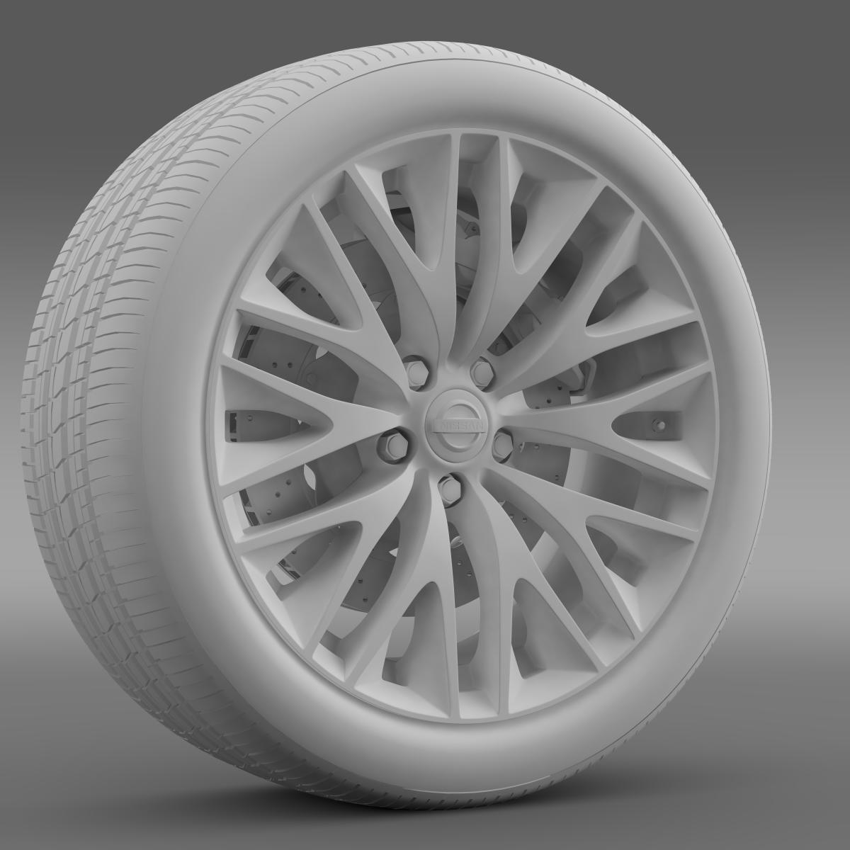 nissan cima hybrid wheel 3d model 3ds max fbx c4d lwo ma mb hrc xsi obj 210821