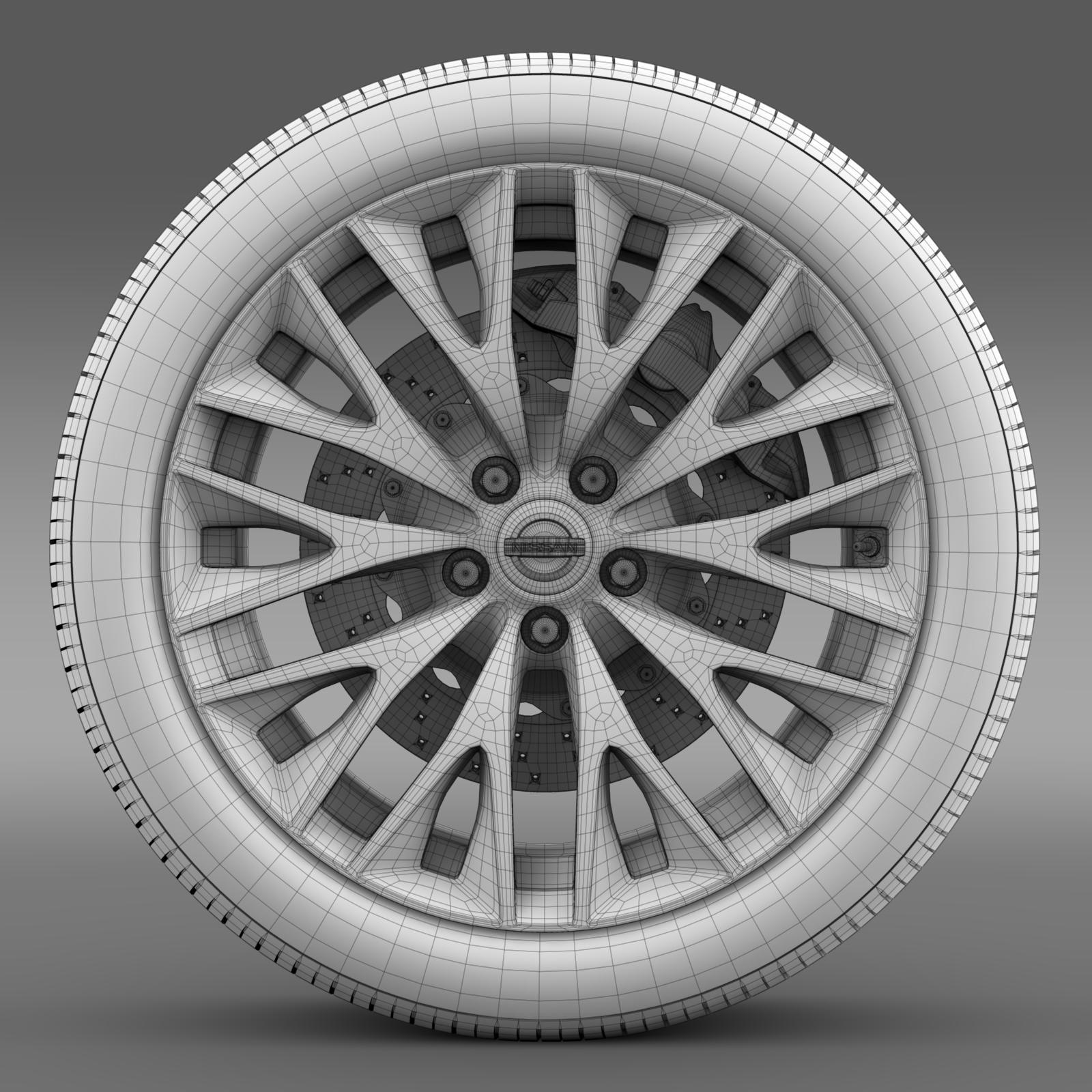 nissan cima hybrid wheel 3d model 3ds max fbx c4d lwo ma mb hrc xsi obj 210822
