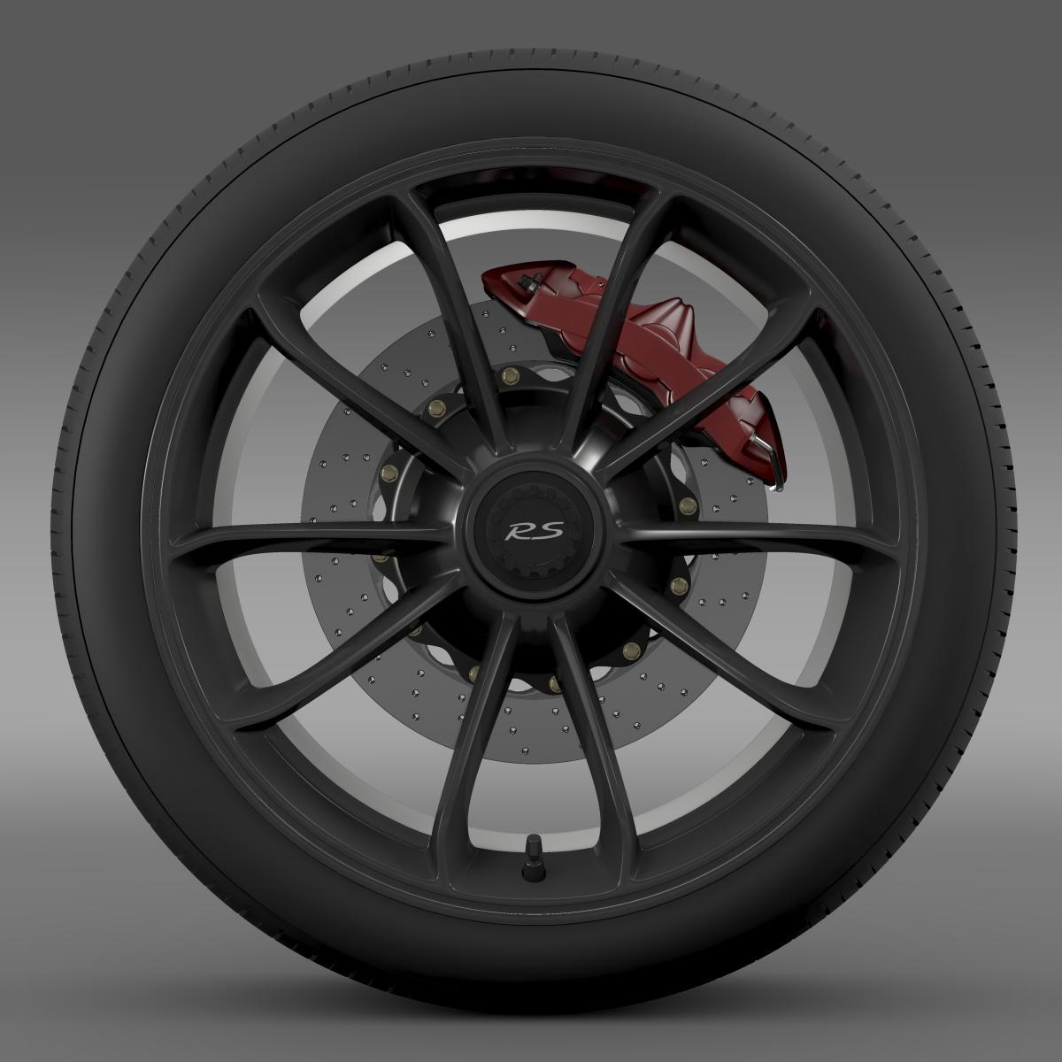 porsche 911 gt3 rs 2015 wheel 3d model 3ds max fbx c4d lwo ma mb hrc xsi obj 210829