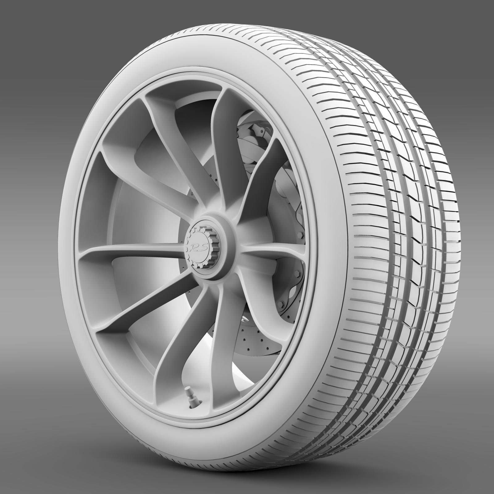 porsche 911 gt3 rs 2015 wheel 3d model 3ds max fbx c4d lwo ma mb hrc xsi obj 210836