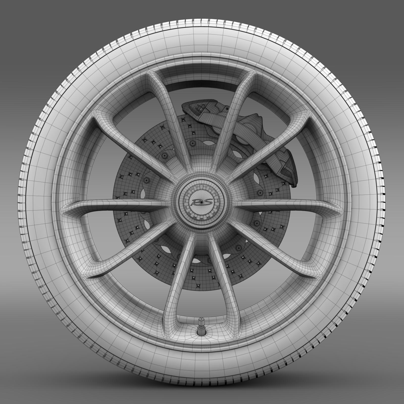 porsche 911 gt3 rs 2015 wheel 3d model 3ds max fbx c4d lwo ma mb hrc xsi obj 210837
