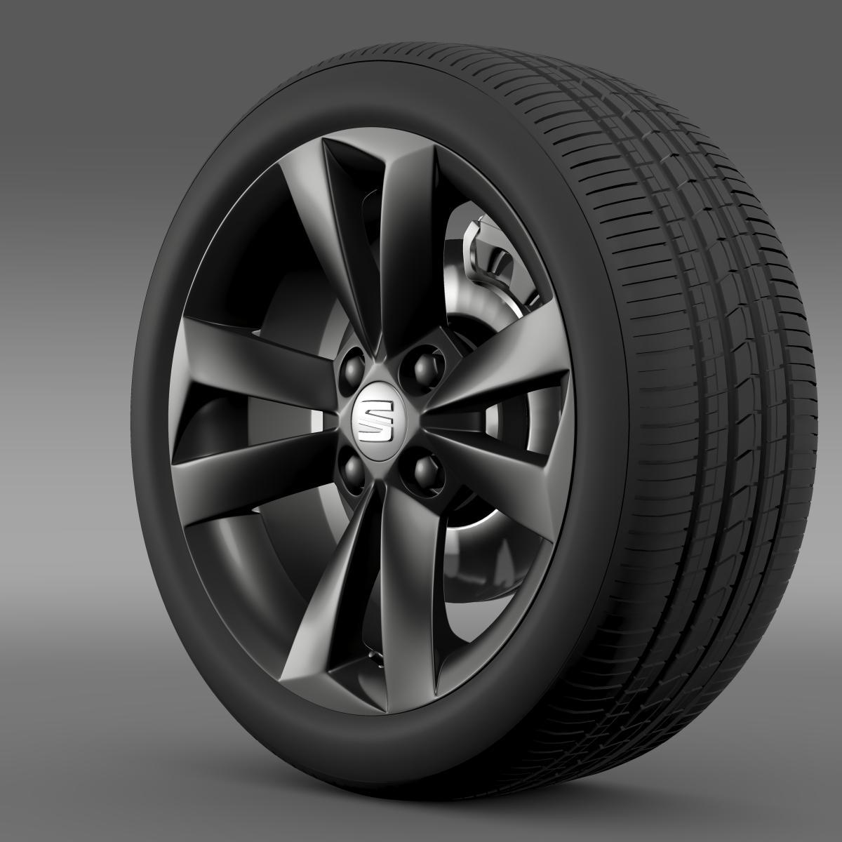 seat mii vibora negra wheel 3d model 3ds max fbx c4d lwo ma mb hrc xsi obj 210842