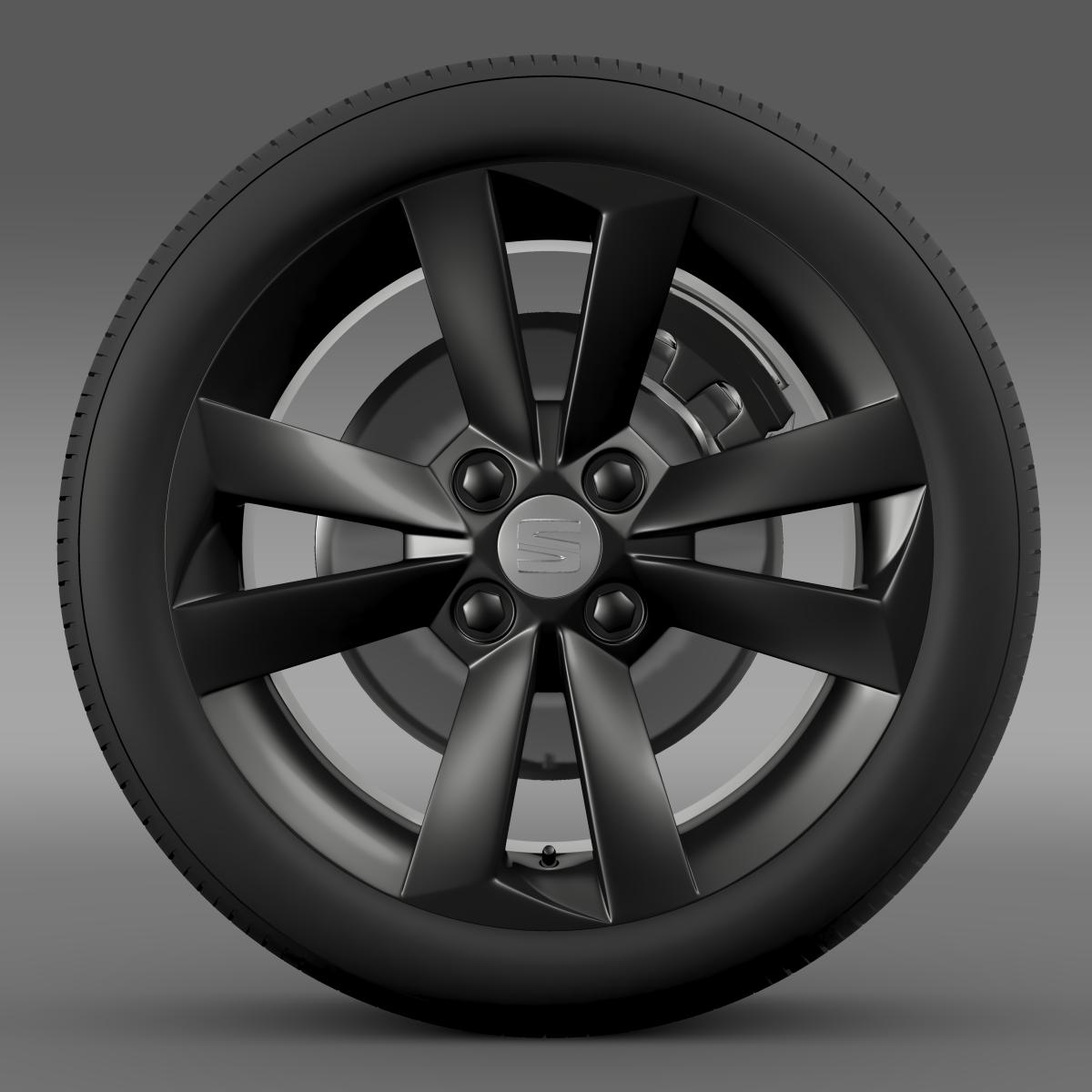 seat mii vibora negra wheel 3d model 3ds max fbx c4d lwo ma mb hrc xsi obj 210843