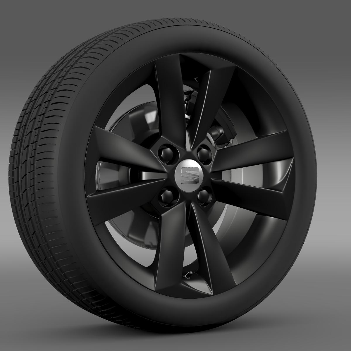 seat mii vibora negra wheel 3d model 3ds max fbx c4d lwo ma mb hrc xsi obj 210844