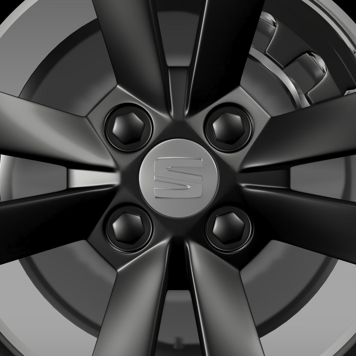 seat mii vibora negra wheel 3d model 3ds max fbx c4d lwo ma mb hrc xsi obj 210846