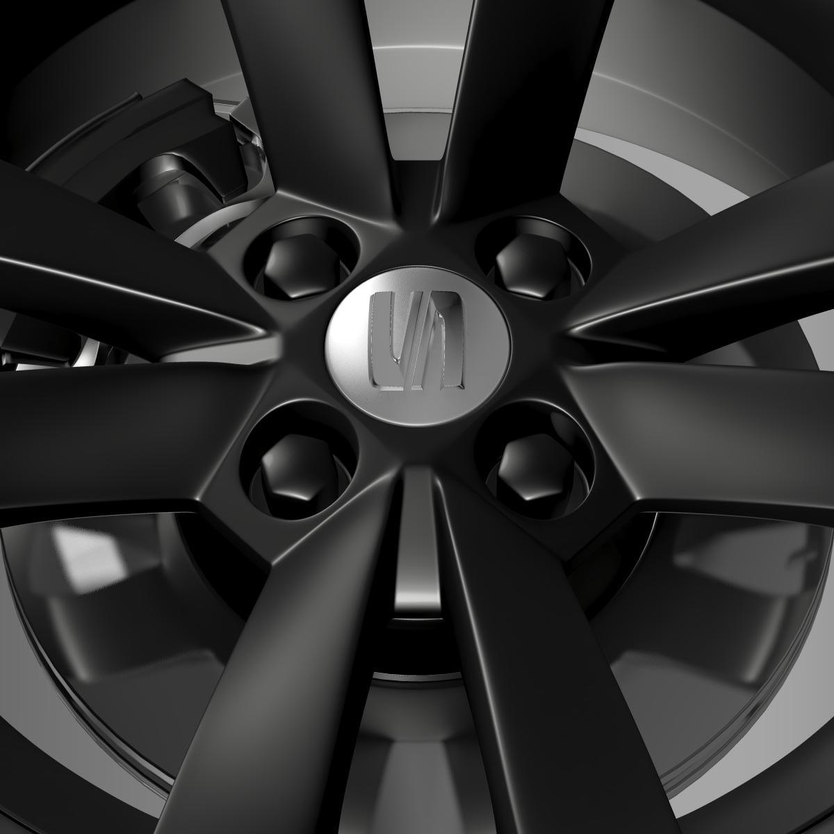 seat mii vibora negra wheel 3d model 3ds max fbx c4d lwo ma mb hrc xsi obj 210847