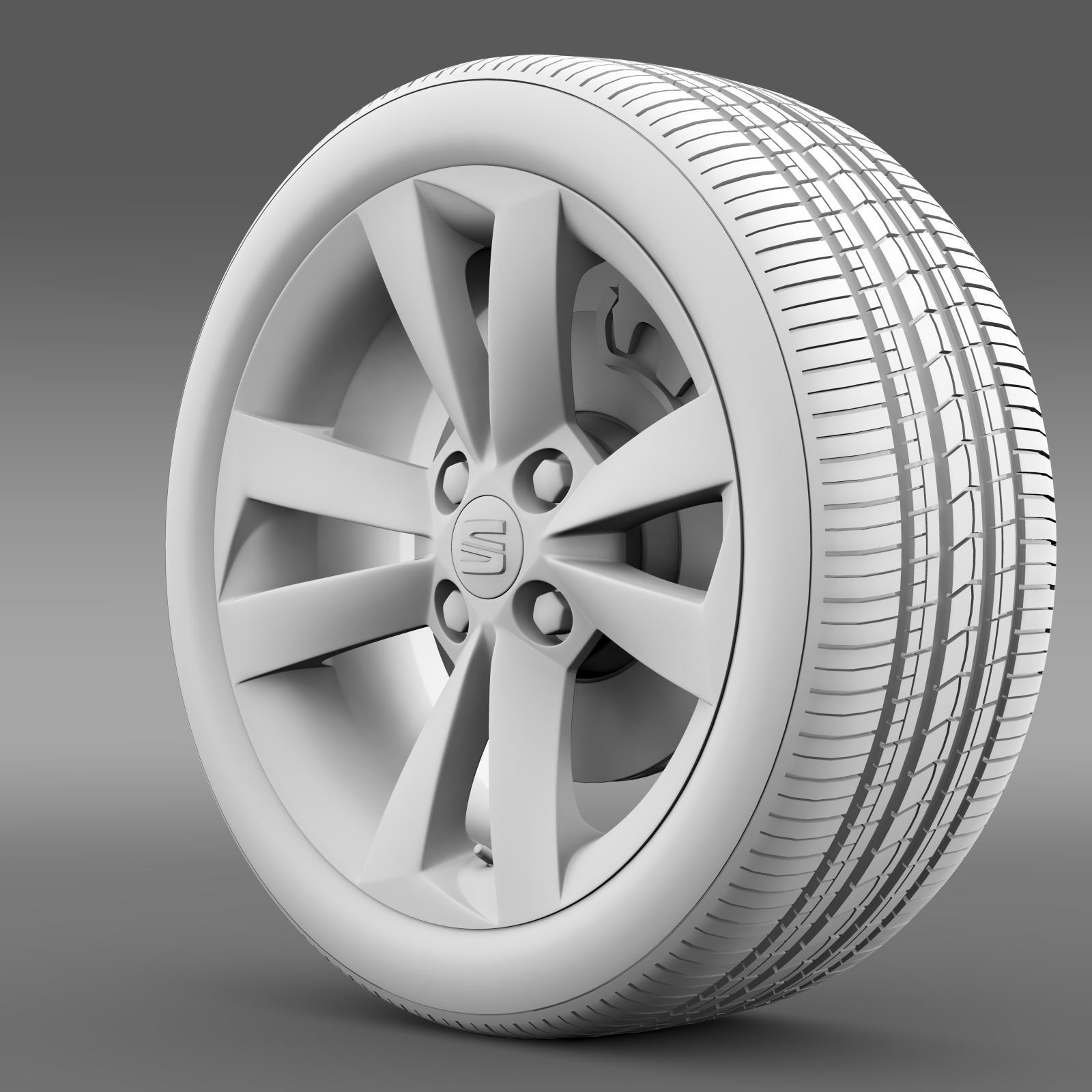 seat mii vibora negra wheel 3d model 3ds max fbx c4d lwo ma mb hrc xsi obj 210848
