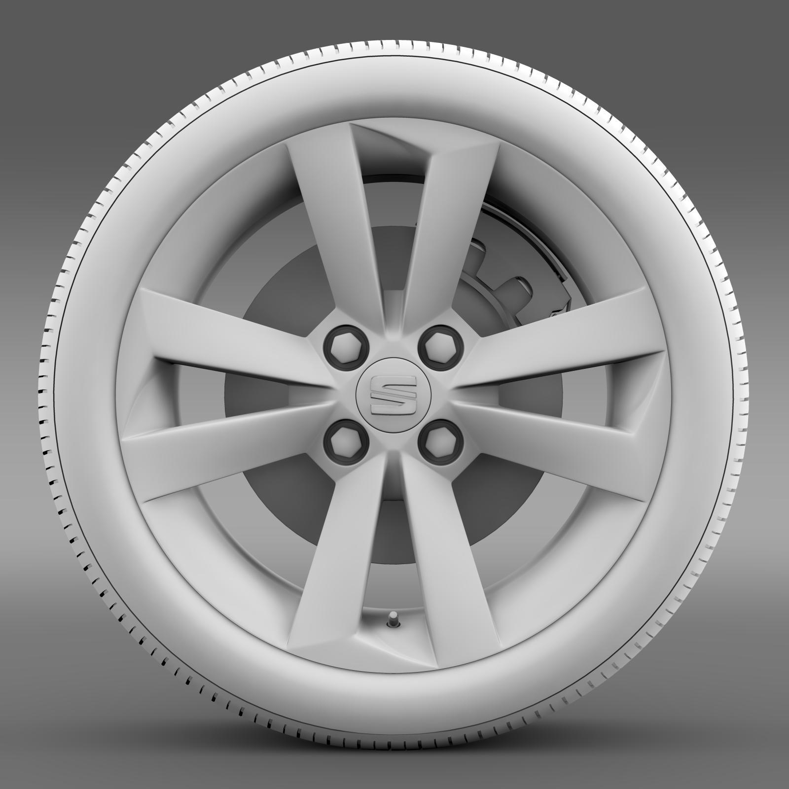 seat mii vibora negra wheel 3d model 3ds max fbx c4d lwo ma mb hrc xsi obj 210849