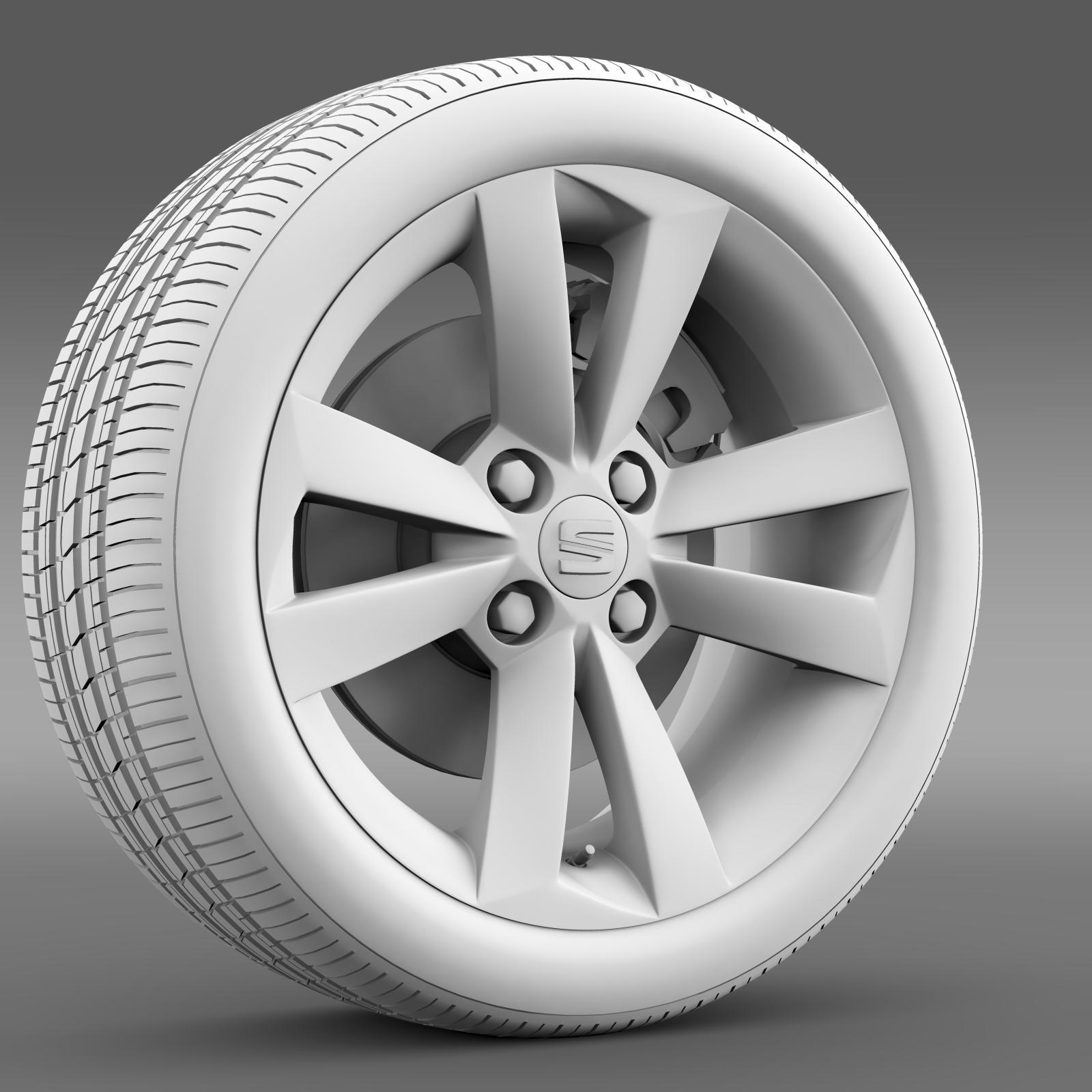 seat mii vibora negra wheel 3d model 3ds max fbx c4d lwo ma mb hrc xsi obj 210850
