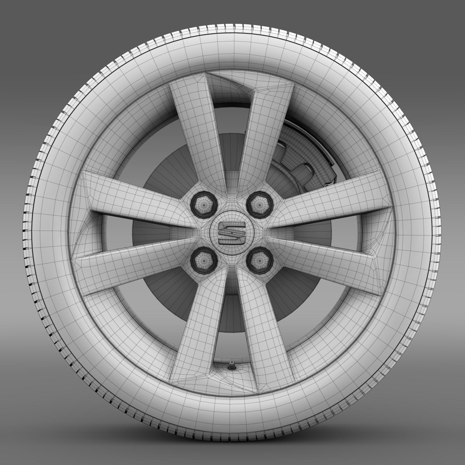 seat mii vibora negra wheel 3d model 3ds max fbx c4d lwo ma mb hrc xsi obj 210851