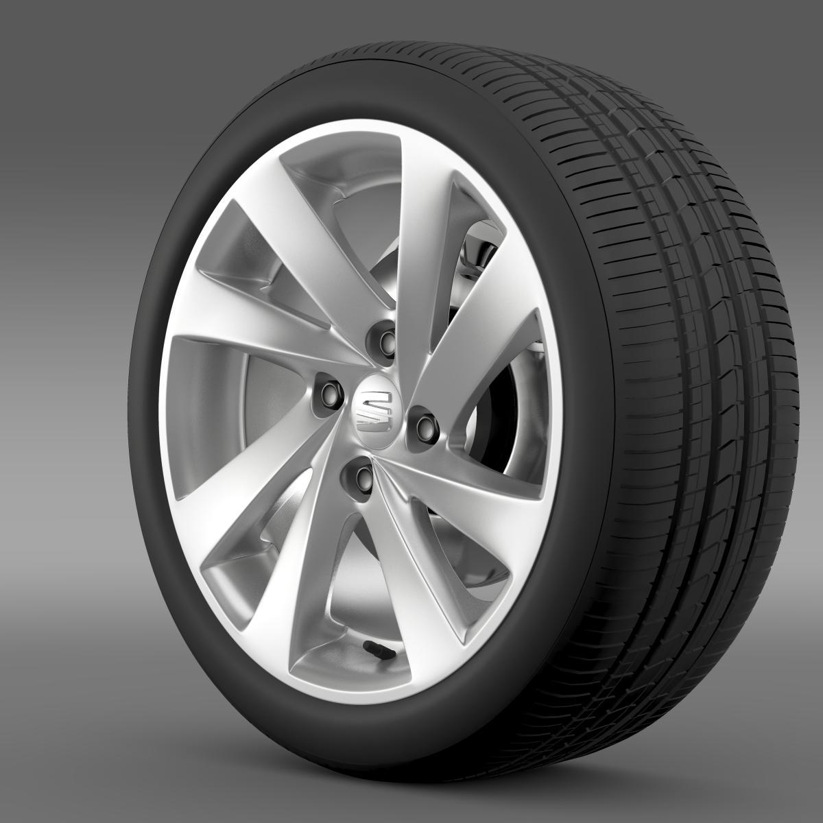 seat mii wheel 3d model 3ds max fbx c4d lwo ma mb hrc xsi obj 210856