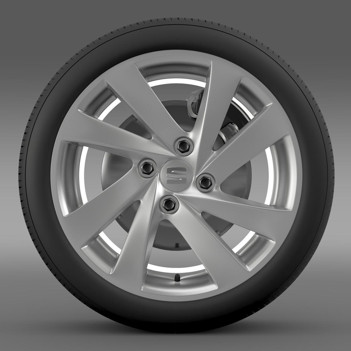 seat mii wheel 3d model 3ds max fbx c4d lwo ma mb hrc xsi obj 210857