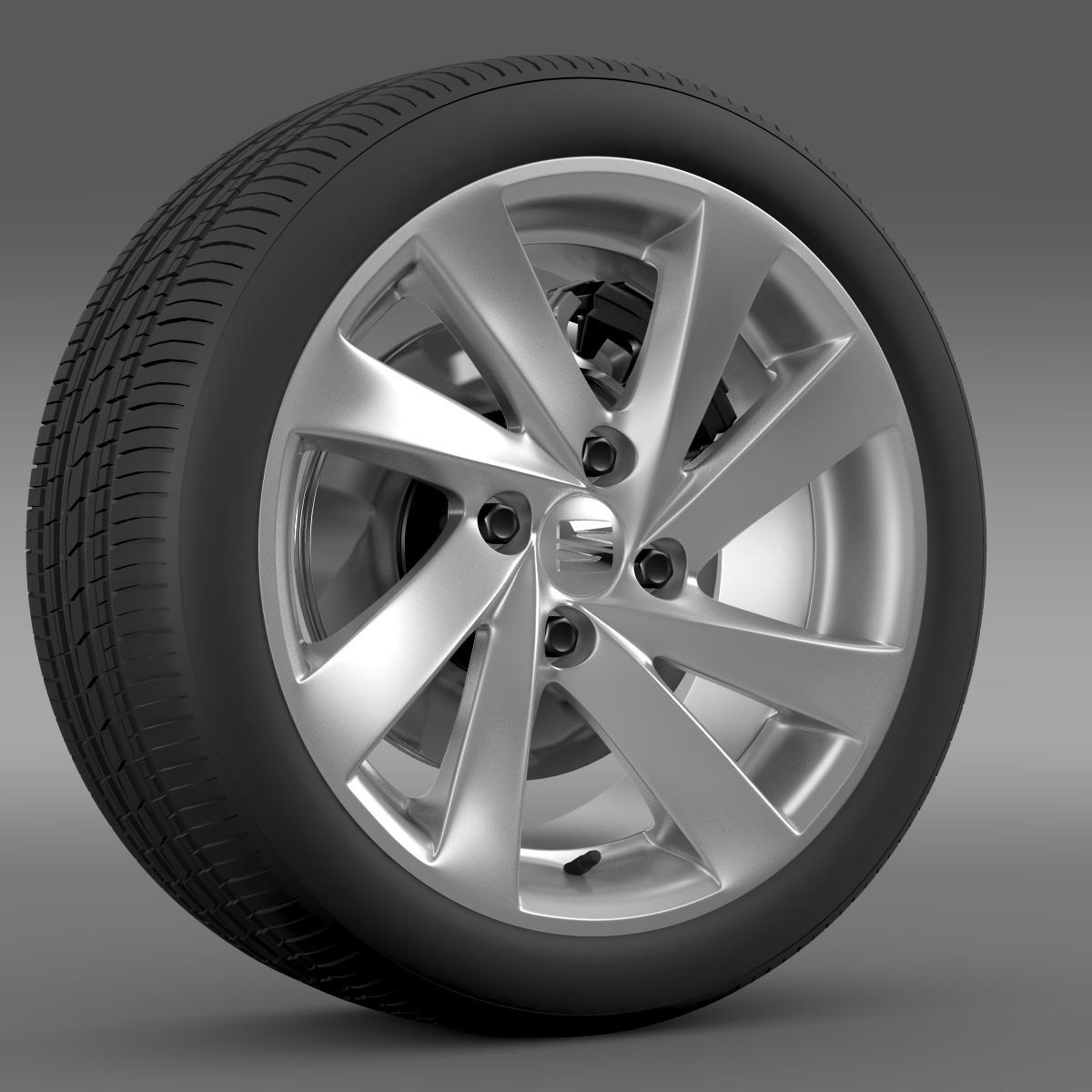 seat mii wheel 3d model 3ds max fbx c4d lwo ma mb hrc xsi obj 210858