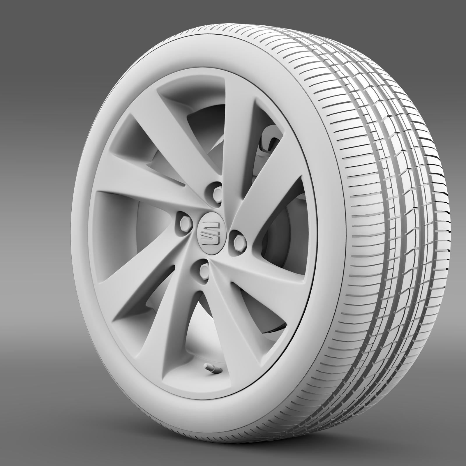 seat mii wheel 3d model 3ds max fbx c4d lwo ma mb hrc xsi obj 210862