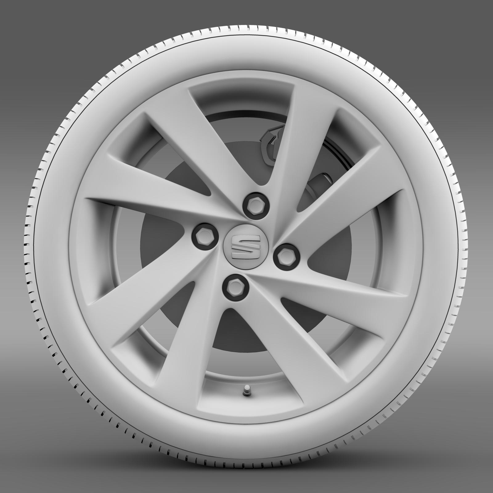 seat mii wheel 3d model 3ds max fbx c4d lwo ma mb hrc xsi obj 210863