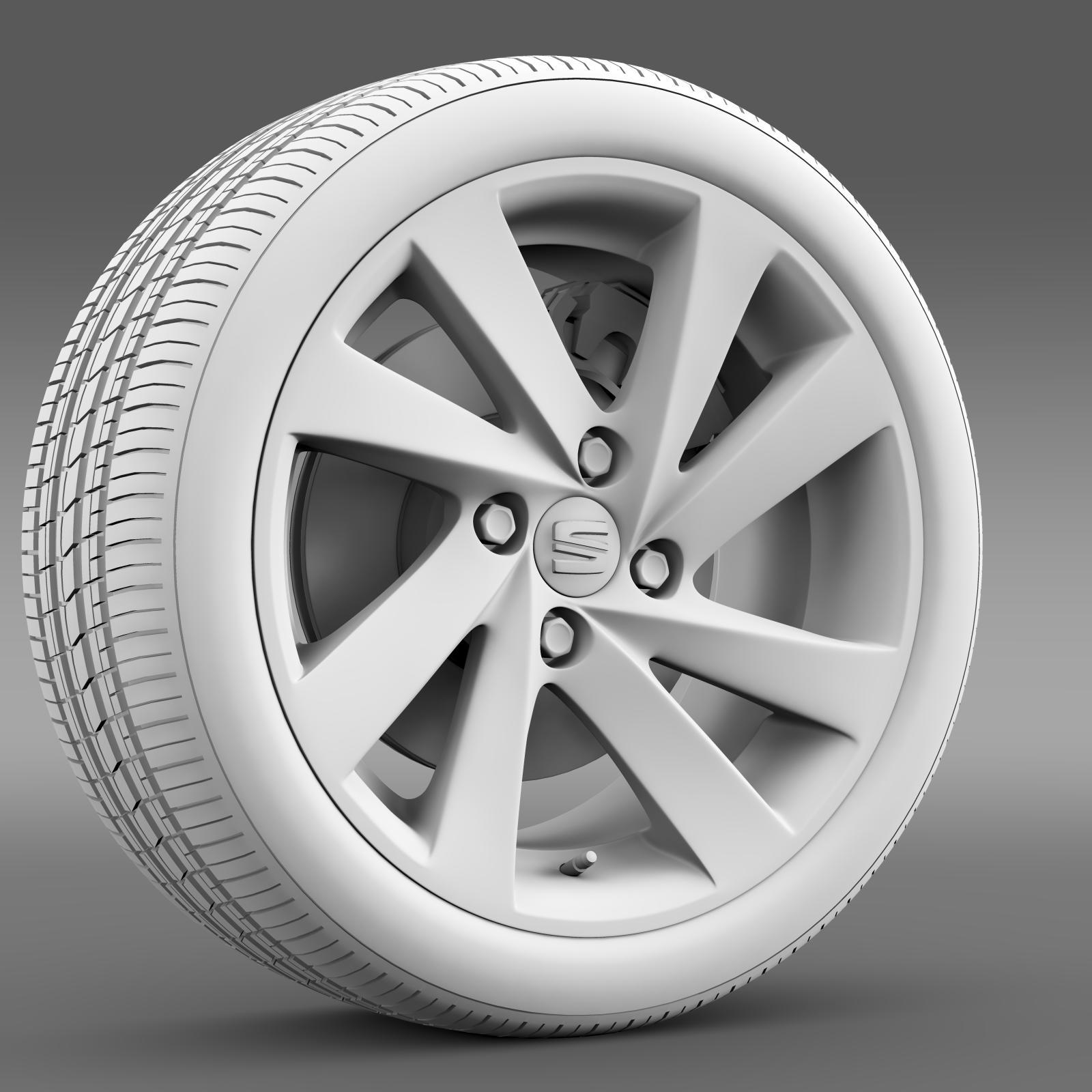 seat mii wheel 3d model 3ds max fbx c4d lwo ma mb hrc xsi obj 210864