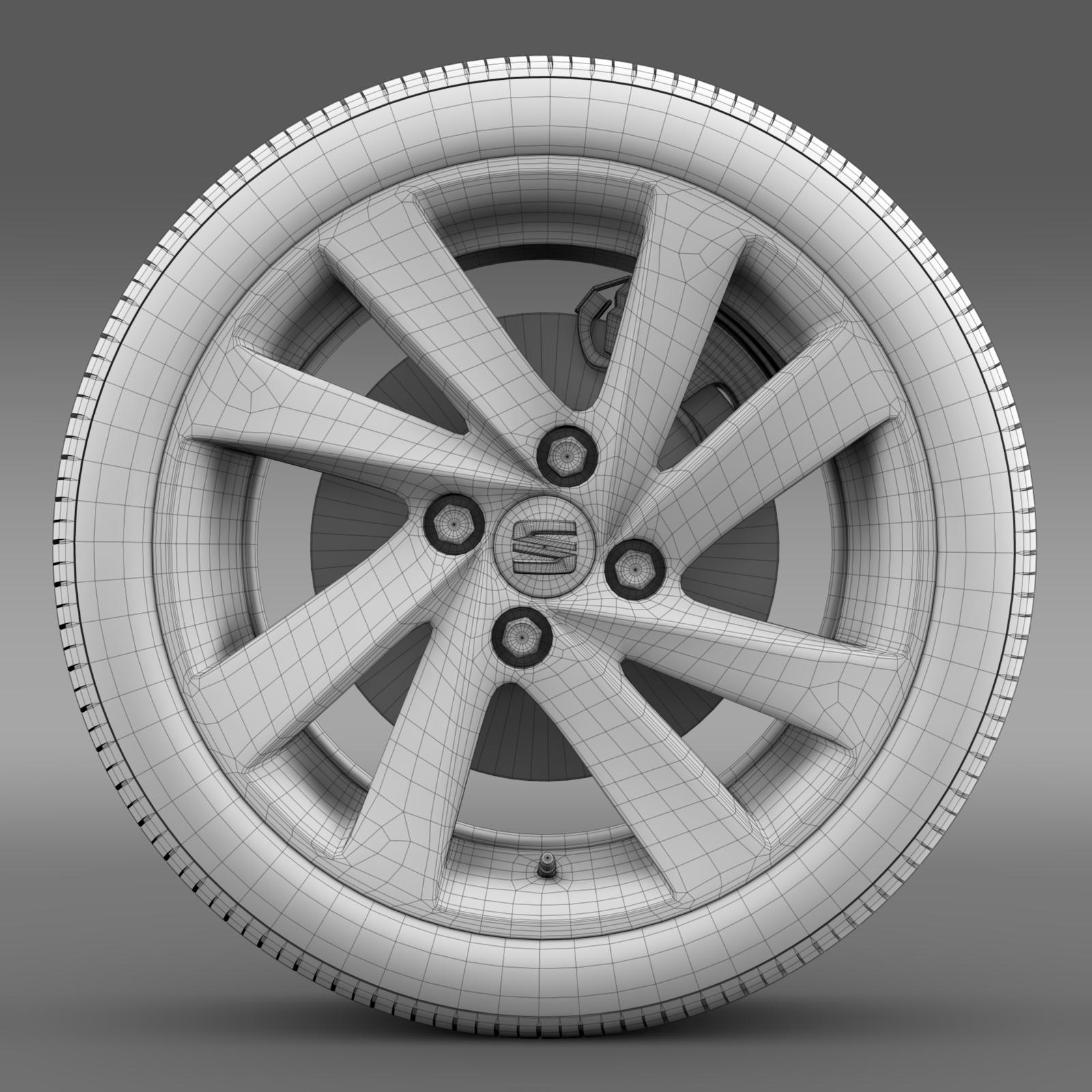 seat mii wheel 3d model 3ds max fbx c4d lwo ma mb hrc xsi obj 210865