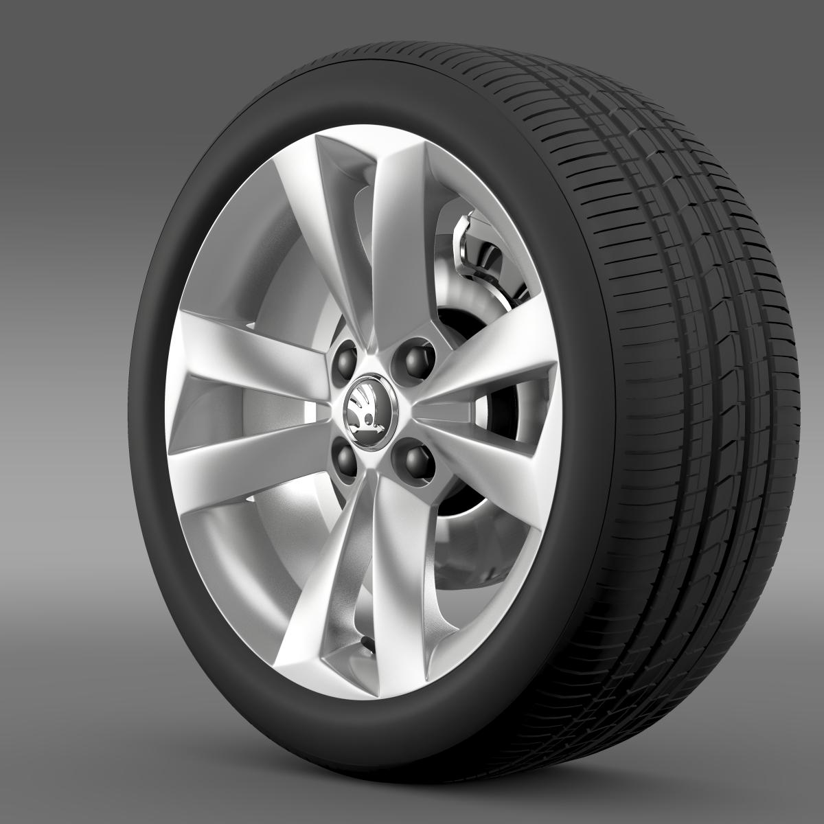 skoda citigo wheel 3d model 3ds max fbx c4d lwo ma mb hrc xsi obj 210870
