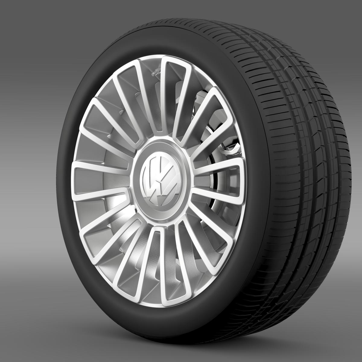 volkswagen up wheel 3d model 3ds max fbx c4d lwo ma mb hrc xsi obj 210883