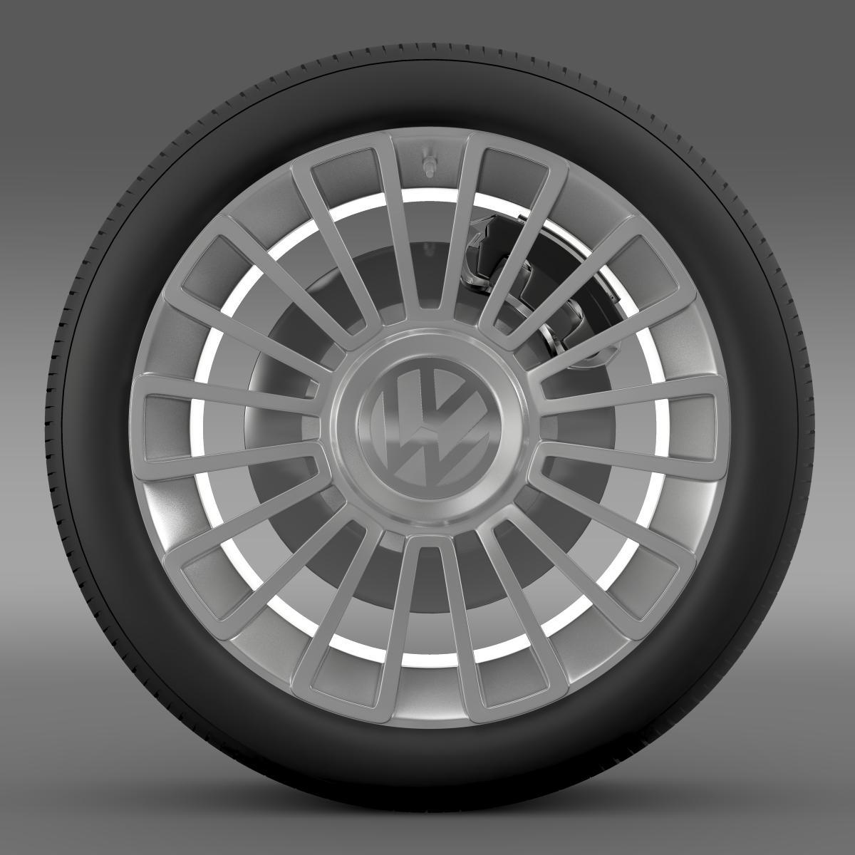 volkswagen up wheel 3d model 3ds max fbx c4d lwo ma mb hrc xsi obj 210884