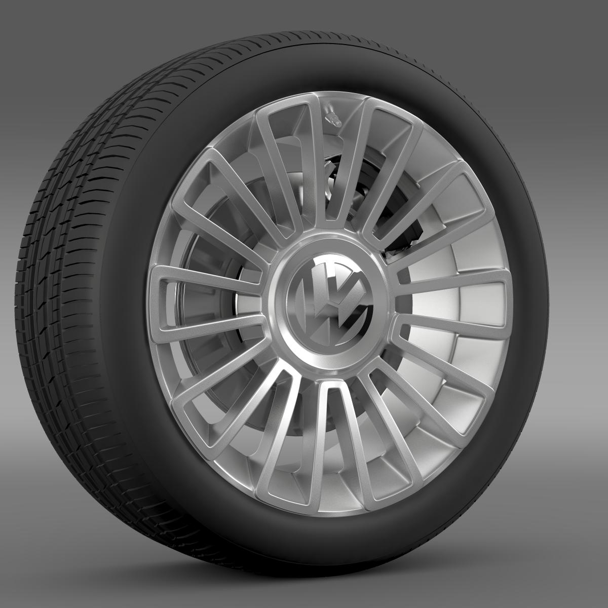 volkswagen up wheel 3d model 3ds max fbx c4d lwo ma mb hrc xsi obj 210885