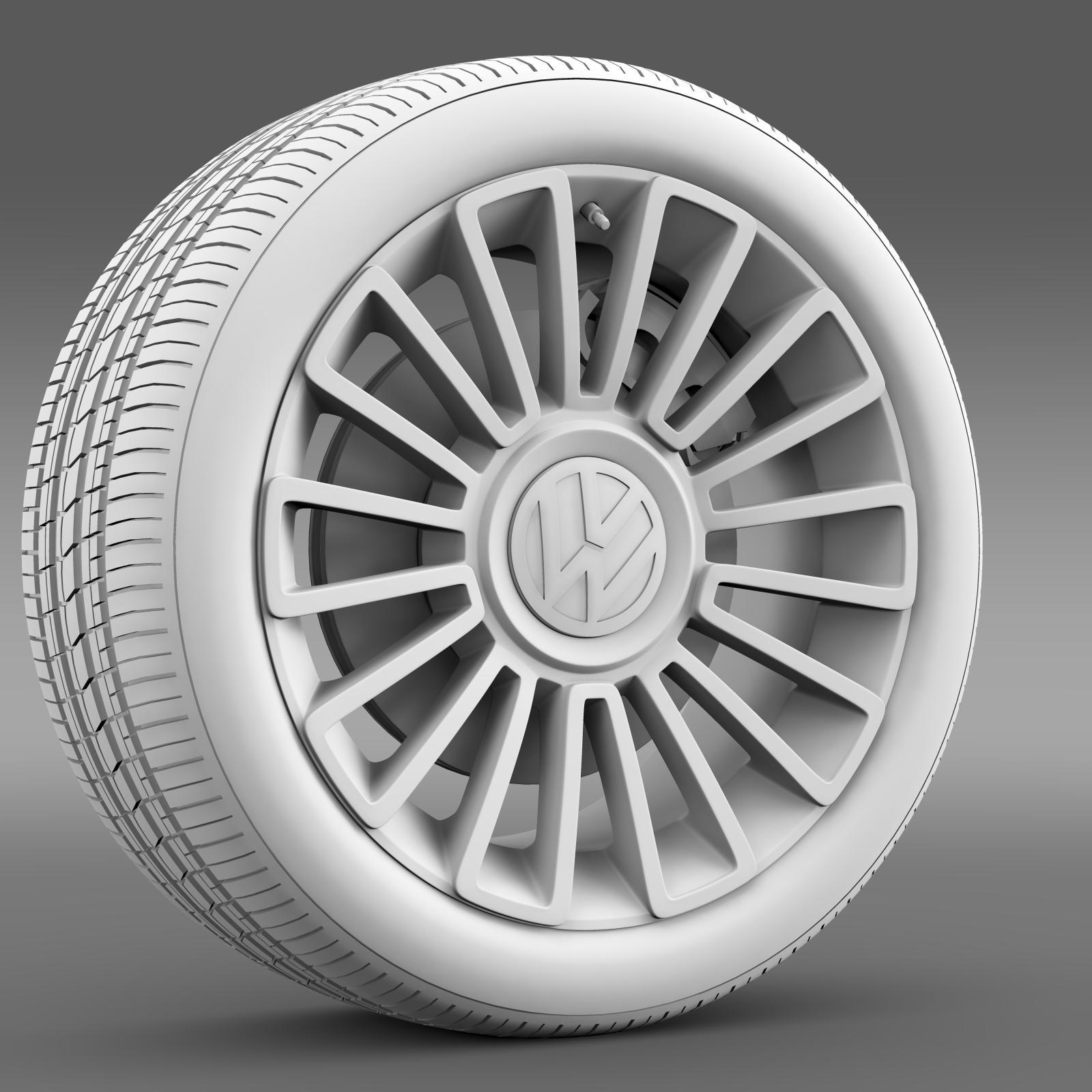 volkswagen up wheel 3d model 3ds max fbx c4d lwo ma mb hrc xsi obj 210890