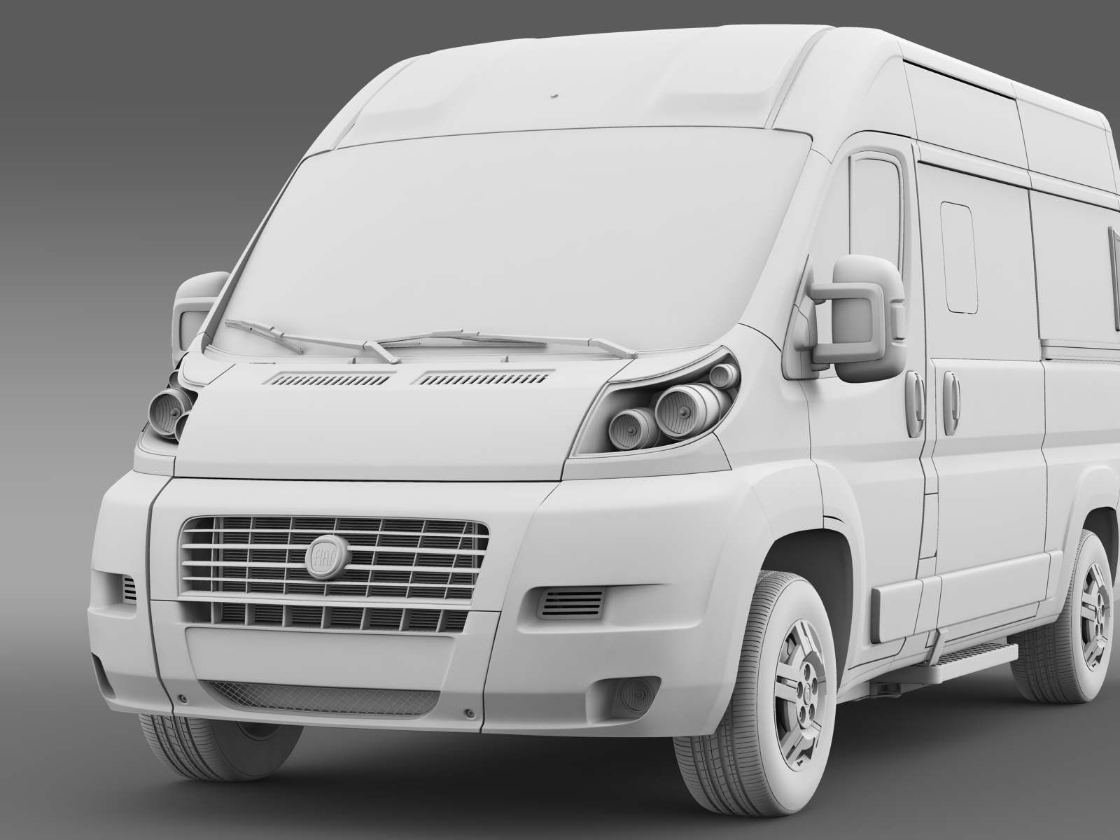 fiat ducato panorama l2h2 2006 2014 3d model. Black Bedroom Furniture Sets. Home Design Ideas
