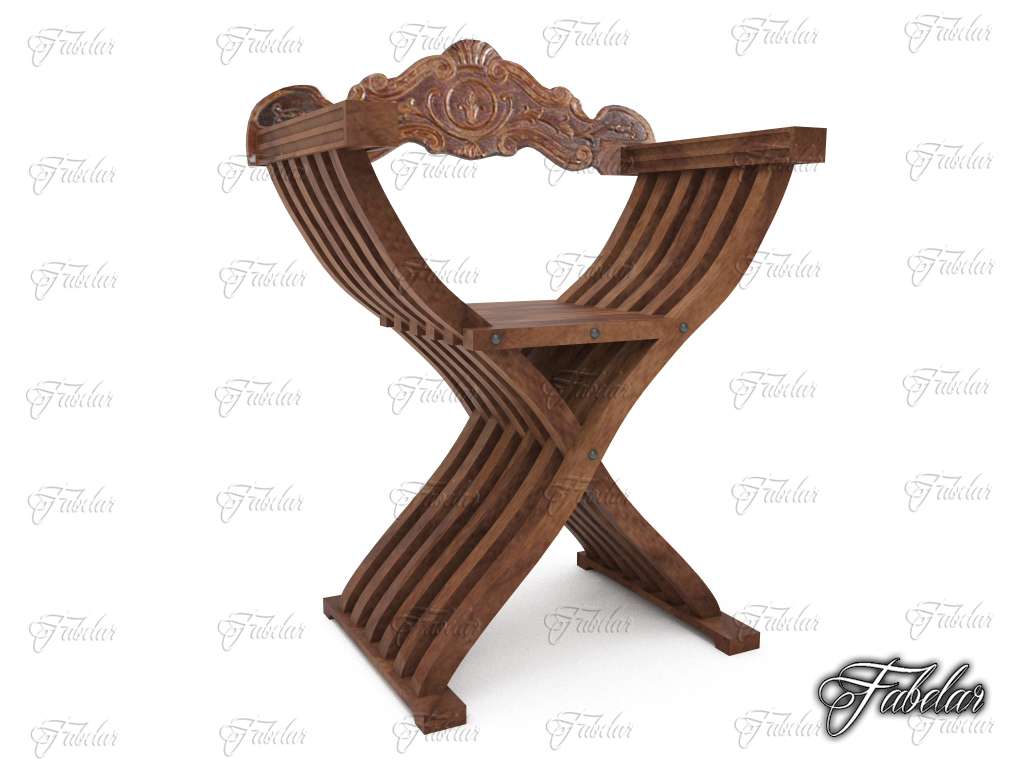 savonarola chair 3d model 3ds max fbx c4d dae wrl wrz obj 210923