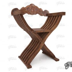 Savonarola chair 3d model 0