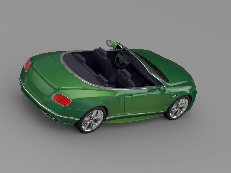 bentley continental gt speed convertible 2015 3d model 3ds max fbx c4d lwo ma mb hrc xsi obj 210980