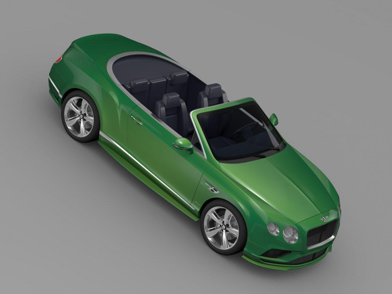 bentley continental gt speed convertible 2015 3d model 3ds max fbx c4d lwo ma mb hrc xsi obj 210982