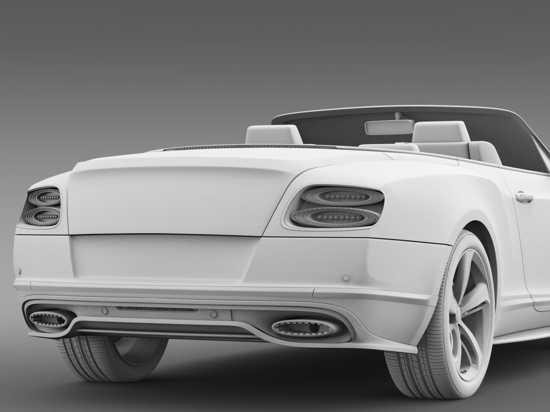 bentley continental gt speed convertible 2015 3d model 3ds max fbx c4d lwo ma mb hrc xsi obj 210986
