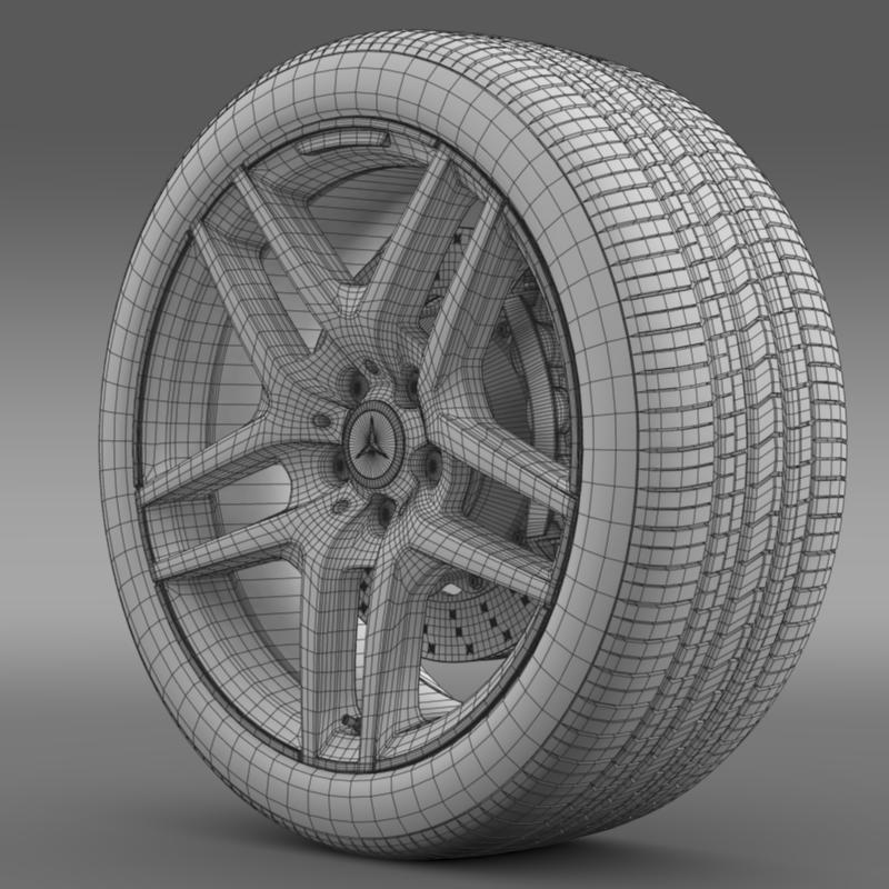 amg mercedes benz s 500 wheel 3d model 3ds max fbx c4d lwo ma mb hrc xsi obj 211017