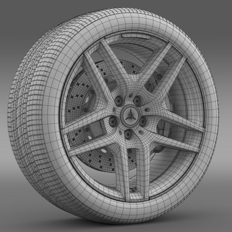 amg mercedes benz s 500 wheel 3d model 3ds max fbx c4d lwo ma mb hrc xsi obj 211019