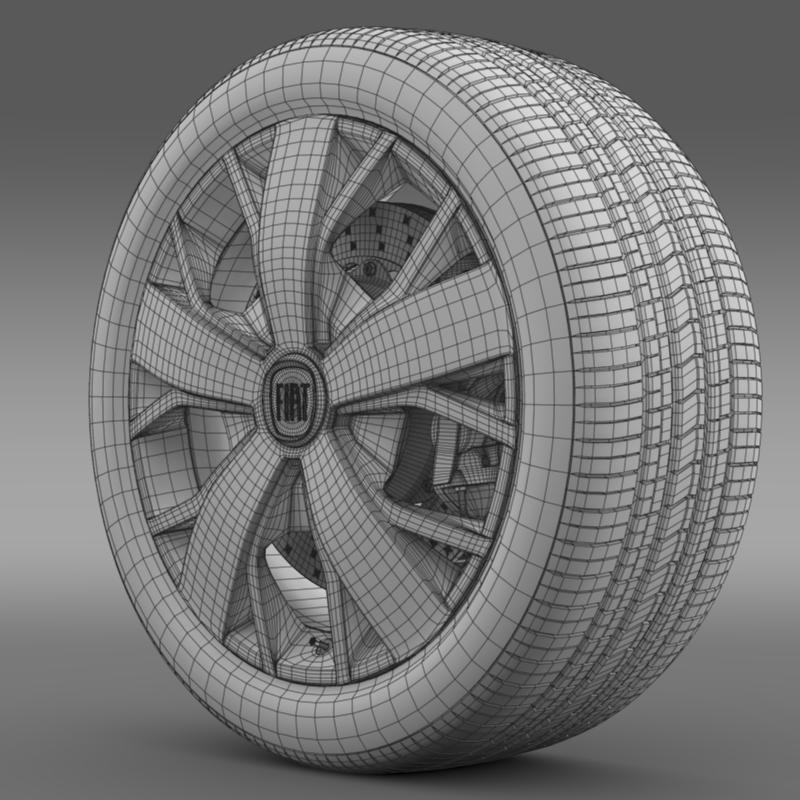 fiat ducato van l2h2 wheel 3d model 3ds max fbx c4d lwo ma mb hrc xsi obj 211027
