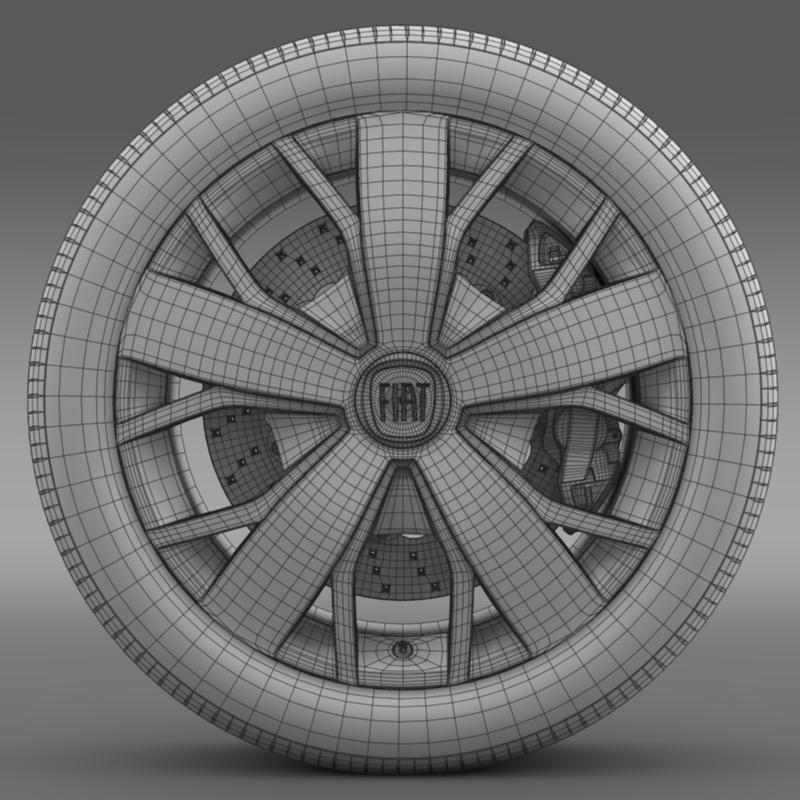 fiat ducato van l2h2 wheel 3d model 3ds max fbx c4d lwo ma mb hrc xsi obj 211028