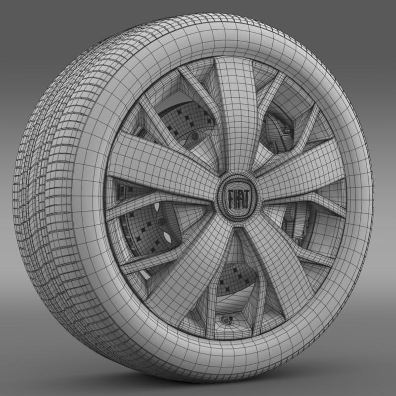 fiat ducato van l2h2 wheel 3d model 3ds max fbx c4d lwo ma mb hrc xsi obj 211029