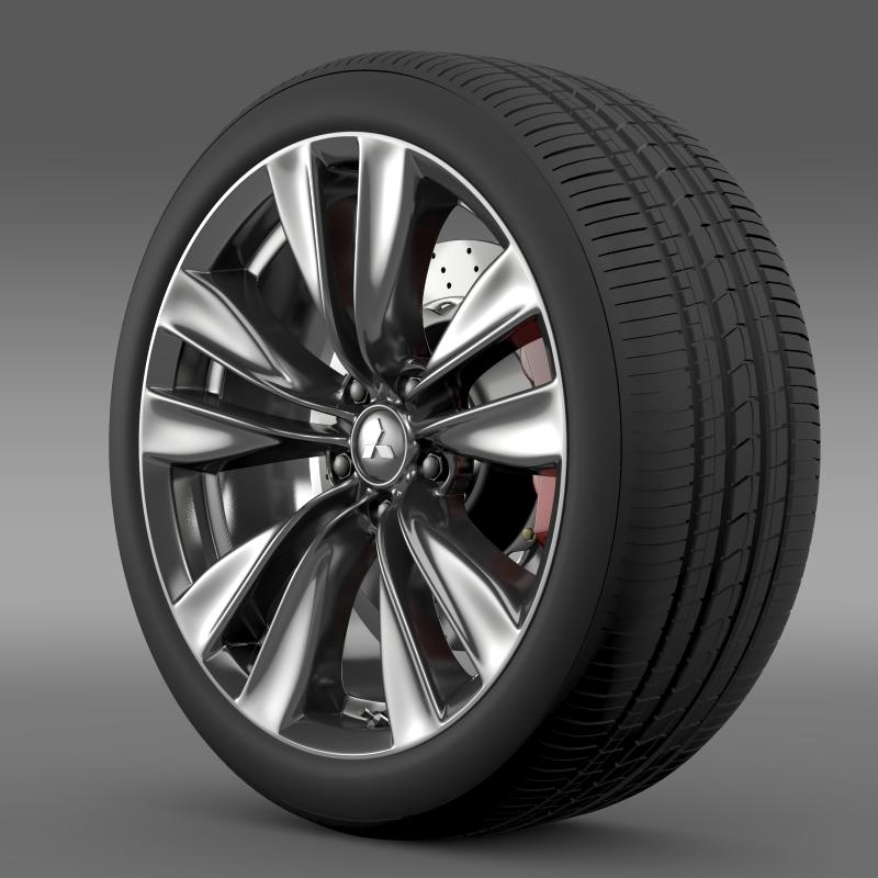 mitsubishi proudia wheel 3d model 3ds max fbx c4d lwo ma mb hrc xsi obj 211053