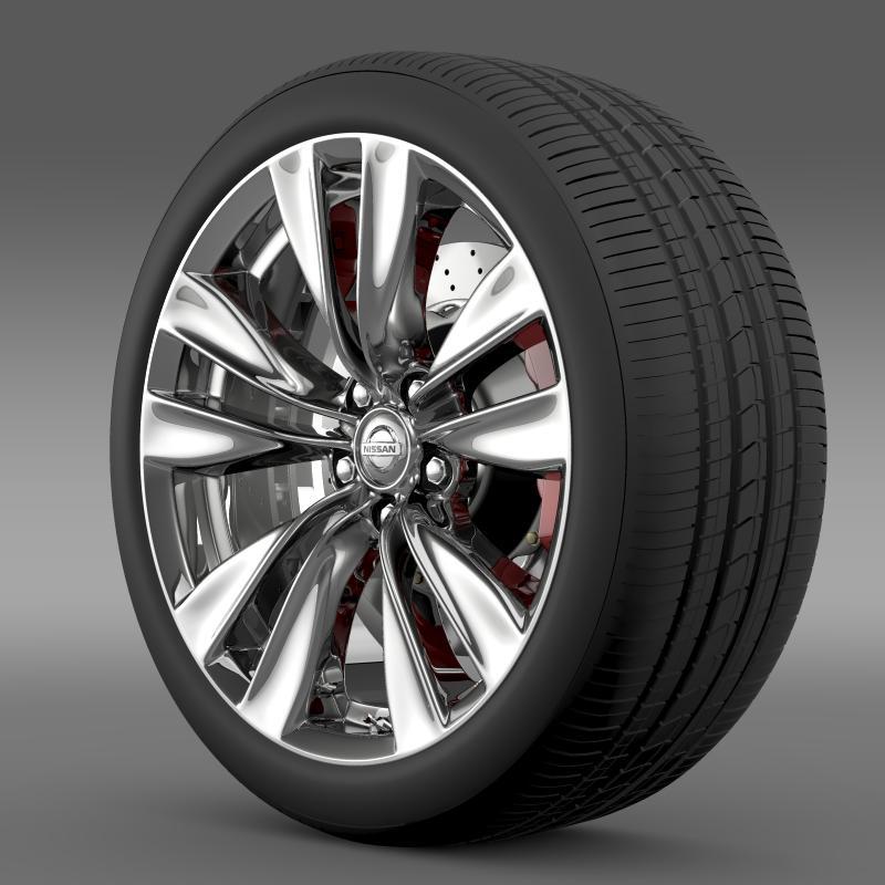 nissan fuga wheel 3d modelo 3ds max fbx c4d lwo ma mb hrc xsi obj 211069