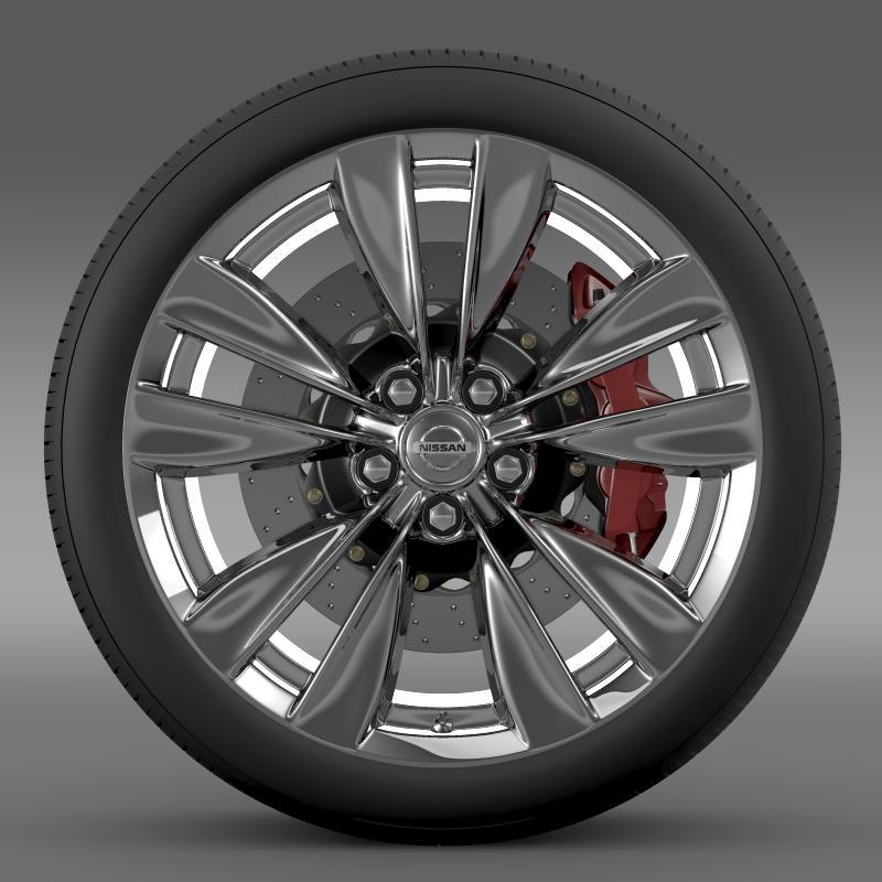 nissan fuga wheel 3d model 3ds max fbx c4d lwo ma mb hrc xsi obj 211070