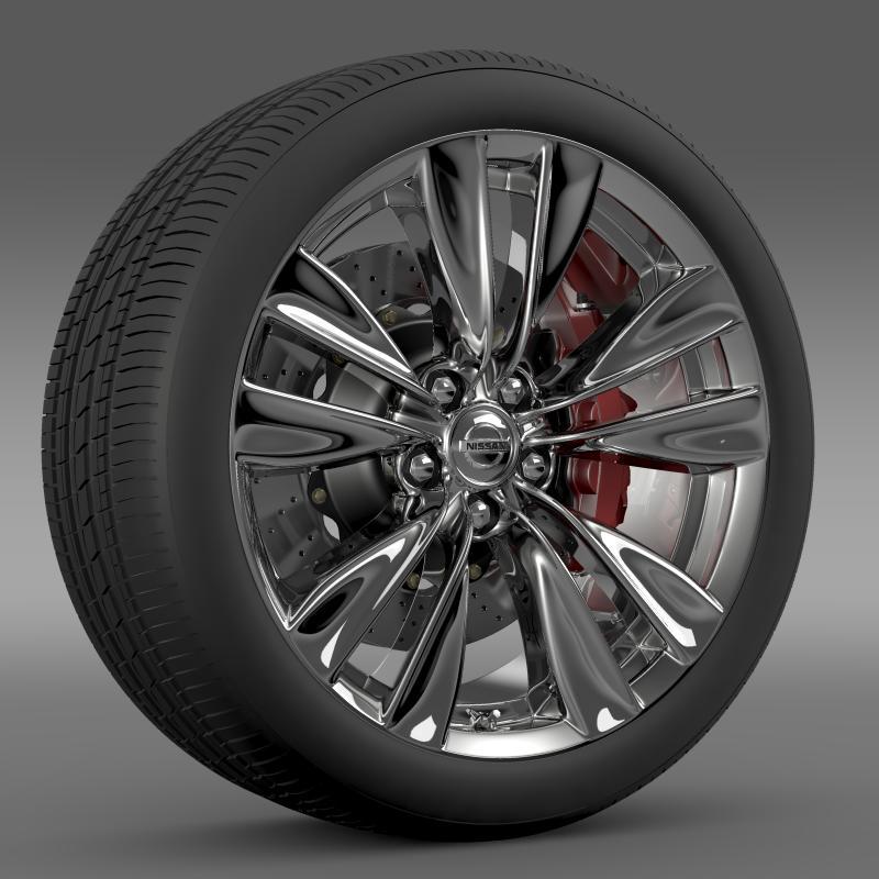 nissan fuga wheel 3d model 3ds max fbx c4d lwo ma mb hrc xsi obj 211071