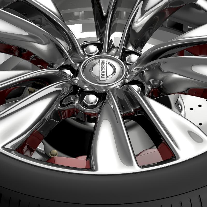nissan fuga wheel 3d model 3ds max fbx c4d lwo ma mb hrc xsi obj 211072