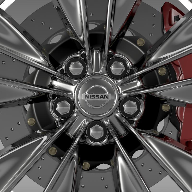 nissan fuga wheel 3d model 3ds max fbx c4d lwo ma mb hrc xsi obj 211073