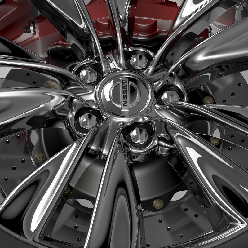 nissan fuga wheel 3d model 3ds max fbx c4d lwo ma mb hrc xsi obj 211074