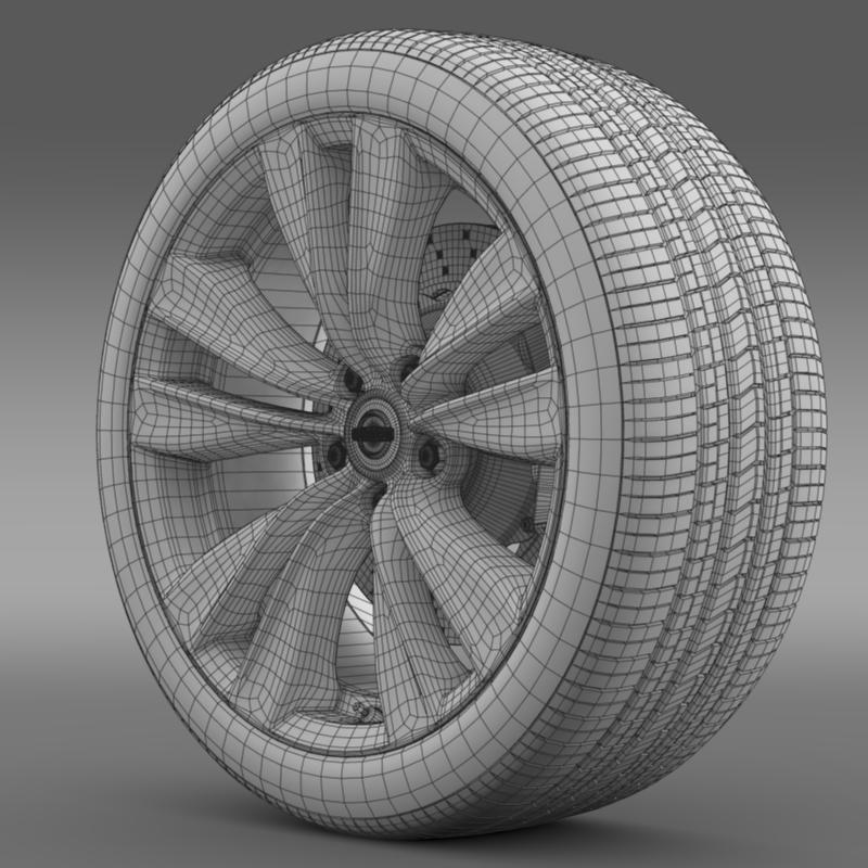 nissan fuga wheel 3d model 3ds max fbx c4d lwo ma mb hrc xsi obj 211075