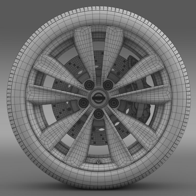nissan fuga wheel 3d model 3ds max fbx c4d lwo ma mb hrc xsi obj 211076