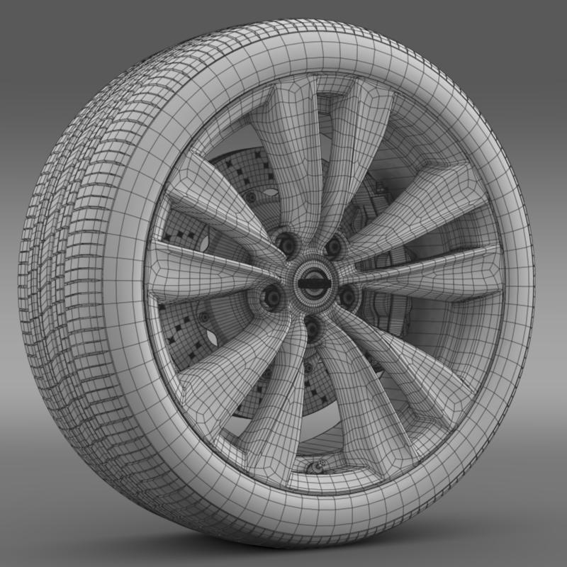 nissan fuga wheel 3d model 3ds max fbx c4d lwo ma mb hrc xsi obj 211077